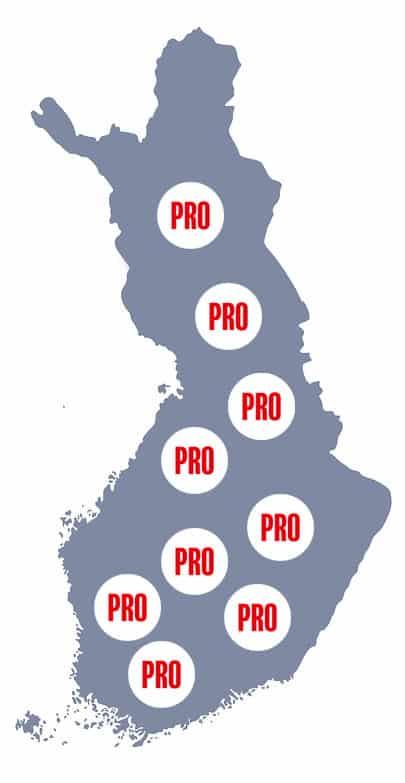 Kattopalvelut koko Suomen alueella