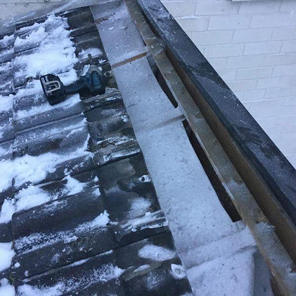 Katon korjaus vaikka talvella